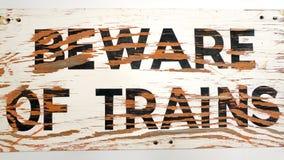 Beware dos trens Foto de Stock Royalty Free