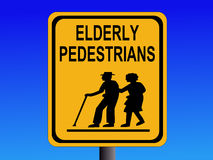 Beware elderly people sign Royalty Free Stock Photos