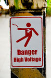 Beware of electric shock Stock Photo