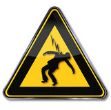 Beware of electric shock. And high voltage Stock Photos