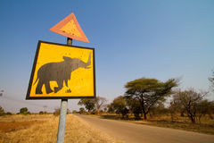 Beware of elephants Royalty Free Stock Photo