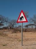 Beware of elephants royalty free stock photography