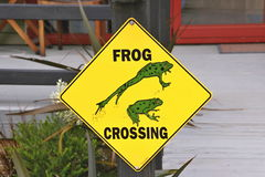 Beware of frogs on the road New Zealand South Island Royalty Free Stock Images