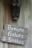 Beware of Gators. Beware Sign royalty free stock image