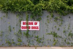 Beware of Guard Dogs Royalty Free Stock Photo