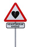 Beware of Heartbreak Royalty Free Stock Images