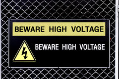 Beware high voltage sign Royalty Free Stock Image