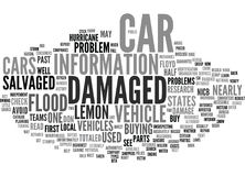 Beware Of Hurricane Damaged Vehicles Word Cloud Concept. Beware Of Hurricane Damaged Vehicles Text Background Word Cloud Concept Stock Image