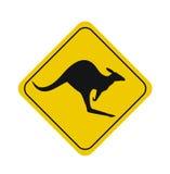 Beware of kangaroos sign Royalty Free Stock Image
