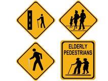 Beware o cruzamento dos povos Foto de Stock Royalty Free