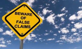 Free Beware Of False Claims Royalty Free Stock Photo - 108360745