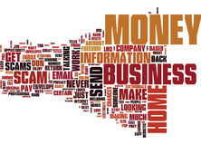 Free Beware Of Home Business Scams Word Cloud Concept Stock Image - 96698131
