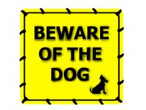 Free Beware Of The Dog Royalty Free Stock Photos - 6650438