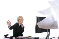 Beware of the office worker Royalty Free Stock Photo
