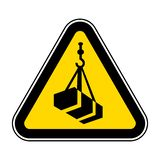 Beware Overhead Load Symbol Isolate On White Background,Vector Illustration EPS.10. Sign, safety, hazard, industrial, label, crane, construction, caution, hook vector illustration