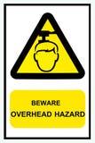 Beware overhead sign in condominium. Stock Image