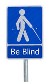 Beware people crossing sign blind Stock Photography