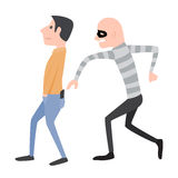 Beware, Pickpocket. Beware, Pickpocket, illustration and design royalty free illustration