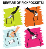 Beware of pickpockets Royalty Free Stock Photo
