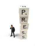 Beware of the press. The press wants to know all Royalty Free Stock Photo