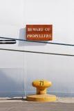 Beware Propellers Royalty Free Stock Photos