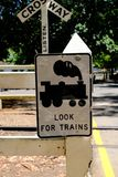 Beware of Puffing Billy - the steam train in Melbourne, Australia royalty free stock photo