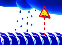 Beware Of Rain On Sea Stock Images