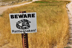 Beware Rattlesnakes Stock Photos