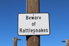 Beware of Rattlesnakes Stock Photo