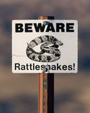 Beware Rattlesnakes Royalty Free Stock Photos