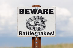 Beware of Rattlesnakes Sign Royalty Free Stock Photography