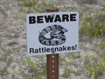 Beware Rattlesnakes Sign Royalty Free Stock Image
