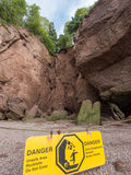 Beware of Rocks Stock Photo