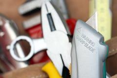Beware of sharp blade Stock Photo