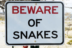Beware of Snakes Royalty Free Stock Photos
