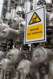 Beware a superfície quente fotografia de stock