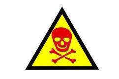 Beware toxic Royalty Free Stock Image