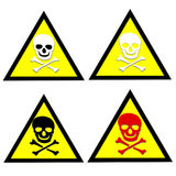 Beware toxic stickers  set Stock Photo
