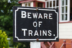 Beware of Trains Stock Photos