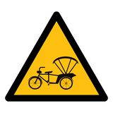 Beware Tricycle Symbol Sign Isolate On White Background,Vector Illustration EPS.10 vector illustration