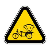 Beware Tricycle Symbol Sign Isolate On White Background,Vector Illustration EPS.10. Risk, safety, warning, bike, stop, caution, vehicle, protection, icon vector illustration