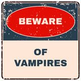 Beware of Vampires. Danger Sign. Vector Royalty Free Stock Photo