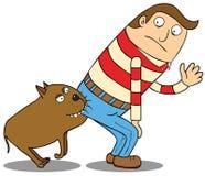 Beware van hond Stock Fotografie