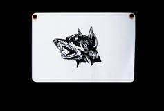Beware van hond Stock Foto's