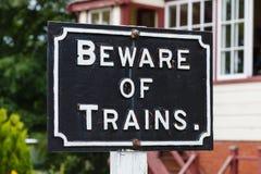 Beware van Treinen stock foto's