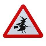 Beware van Vliegende Heksen Stock Foto