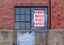 Beware Water Safety Sign Royalty Free Stock Image