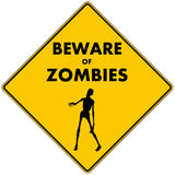 Beware of Zombies Royalty Free Stock Image