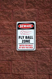 Beware - a zona da esfera de mosca Imagem de Stock Royalty Free