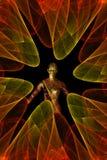 Beweeg fractal cijfer spiraalsgewijs Royalty-vrije Stock Afbeeldingen